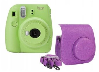 Aparat Fuji Instax mini 9 Lime Green + etui