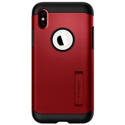 Etui Spigen Slim Armor do telefonu iPhone X / XS Czerwone